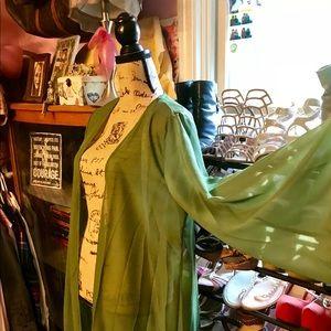 Other - Kimono Duster Green Cardigan